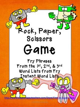 Fry Phrases - Rock, Paper, Scissors Game