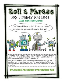 Fry Phrases Roll a Phrase level 3