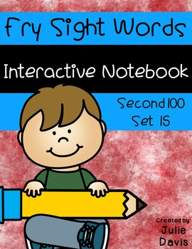 Fry Second 100 Set 15 Sight Word Interactive Notebooks
