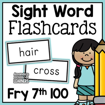 Fry Seventh Hundred Sight Word Flash Cards