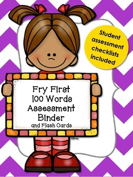 Fry Sight Word Assessment Binder for First 100 Words