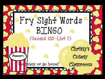 Fry Sight Word Bingo--Second 100 (List 1)