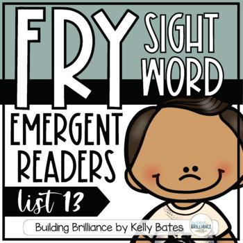 Fry Sight Word Emergent Readers {List THIRTEEN}