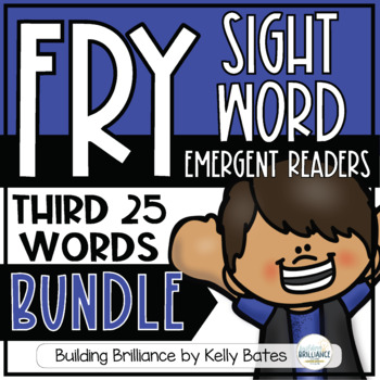 Fry Sight Word Emergent Readers {THE THIRD 25 WORDS BUNDLE}