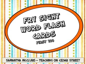 Sight Word Intervention Flash Cards-- Fry First 100