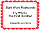 Fry Sight Word Flashcards