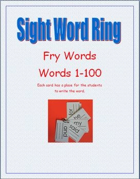 Fry Sight Word Rings--Words 1-100
