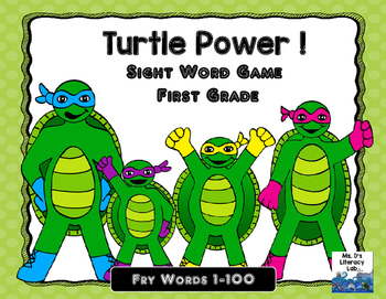 Fry Sight Words (1-100) Turtle Power
