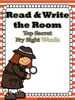 Fry Sight Words Read and Write the Room