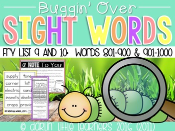 Fry Sight Words 801-1000