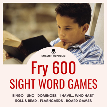 Fry Sight Words Bingo - Sixth Hundred in Color or B&W