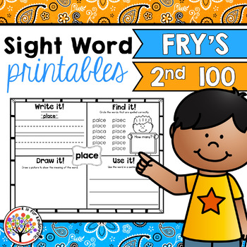 Fry Sight Words : Second 100 Printables