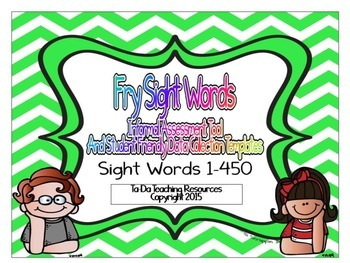 Fry Sight Words Student And Teacher Assessment Templates