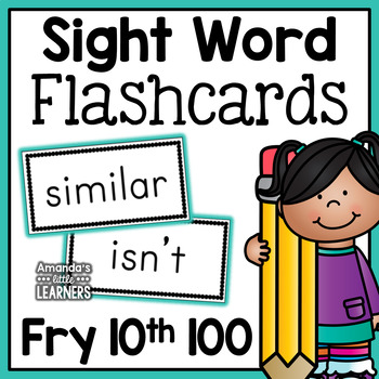 Fry Tenth Hundred Sight Word Flash Cards