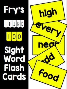 Fry Third 100 Flash Cards & Data Sheets