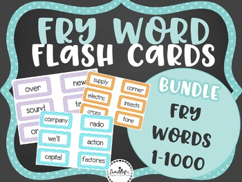 Fry Word Flashcard Pack