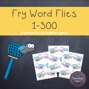 Fry Word Flies 1-300 {Perfect for Fly Swatter Game!}