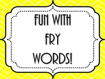 Fry Word Fun!