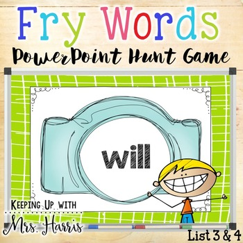 Fry Word Hunt PowerPoint Game (List 3 & 4)