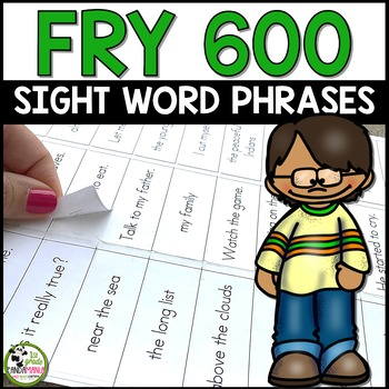 Fry Word Phrases Lists 1-6 Ready to Print on Sticker Label
