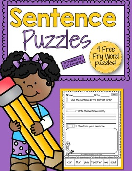 Fry Word Sentence Puzzle Freebie
