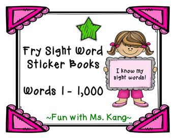 Fry Word Sticker Book 101-200