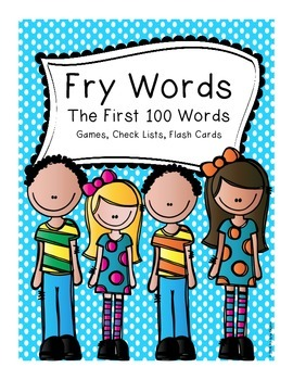 Fry Words 1-100 Game, Checklist and Flashcards