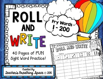 Fry Words 1-200 -- Roll, Read and Write Fry Words --- Sigh
