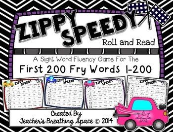 Fry Words 1-200 --- Zippy Speedy Roll And Read --- Sight W