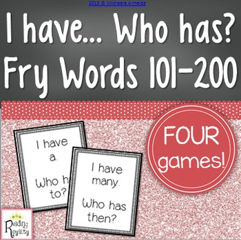 Fry Sight Words 101-200: I have, Who has?