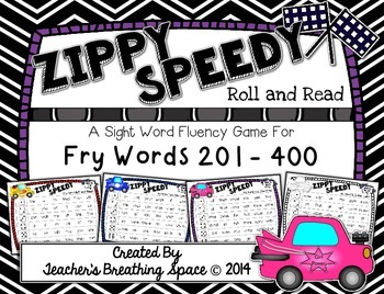 Fry Words 201-400 --- Zippy Speedy Roll And Read --- Sight