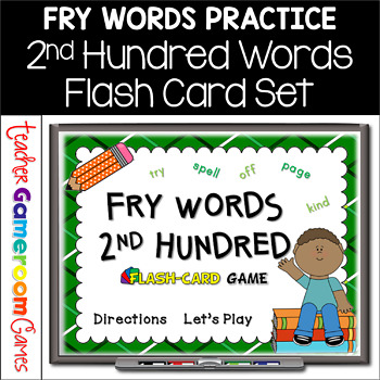 Fry Words - 2nd 100 Words - Flash Card Set