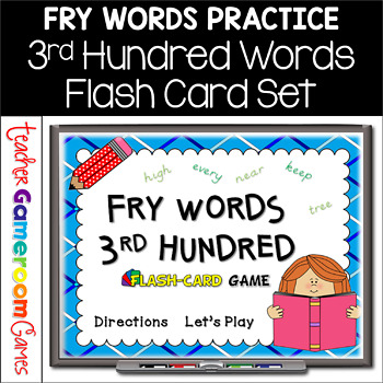 Fry Words - 3rd 100 Words - Flash Card Set