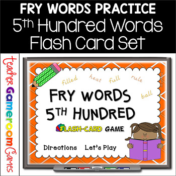 Fry Words - 5th 100 Words - Flash Card Set