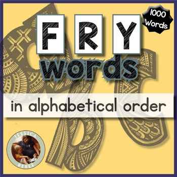 Fry Words Alphabetical Order