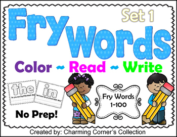 Fry Words ~ Color, Read & Write Set 1