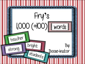 Fry Words - Complete List