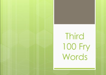 Fry Words First, Second, Third, Fourth, and Fifth List Pow