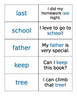 Fry Words Flashcards with Sentences: The Third Hundred
