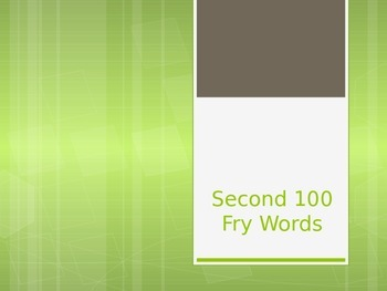 Fry Words Second 100 Power Point