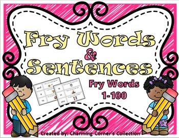 Fry Words & Sentences Set 1