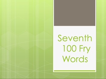 Fry Words Sixth and Seventh List Power Point Bundle
