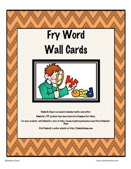 Fry (Two-for-One) Flashcards and Word Wall Cards - Seventh