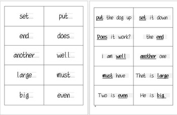 Fry Words and Phrases Flash Cards 151-200