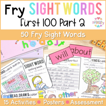 Fry's 1st 100 Words Sight Words Curriculum Part 2
