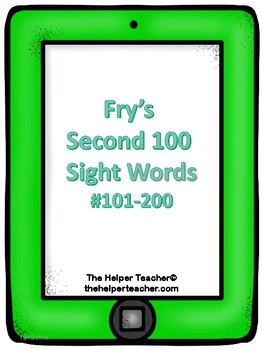Fry's 2nd 100 Sight Words