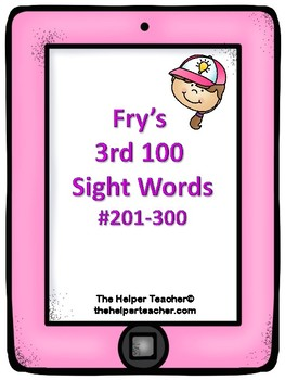 Fry's 3rd 100 Sight Words