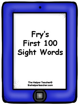 Fry's First 100 Sight Word Cards