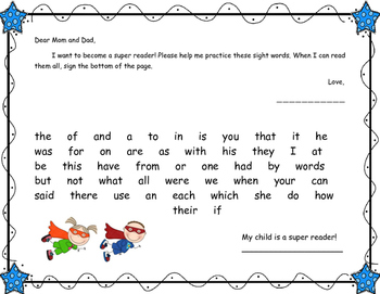 Fry's First 300 Sight Words Homework