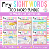 Fry's First 300 Words Sight Words Curriculum GROWING BUNDLE